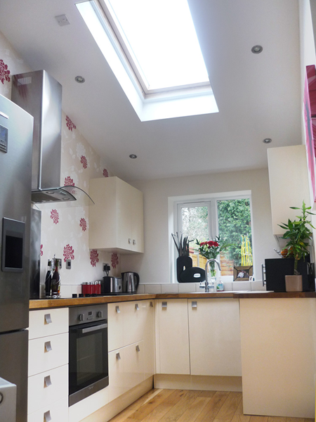 An example of a velux installation within a garage conversion
